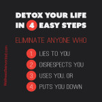 "Inspirational quote. ""Detox your life in 4 easy steps. Eliminate"